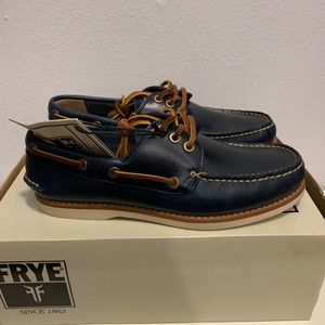 Mens Frye Blue Sully Boat Shoe - Size 7.5 (NWT)